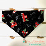 Santa in red truck Bandana - Paws N Claws Couture