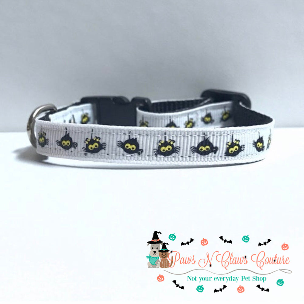 "3/8"" hanging spider Cat or Small Dog Collar - Paws N Claws Couture"