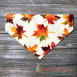Reversible turkeys and leaves Bandana - Paws N Claws Couture
