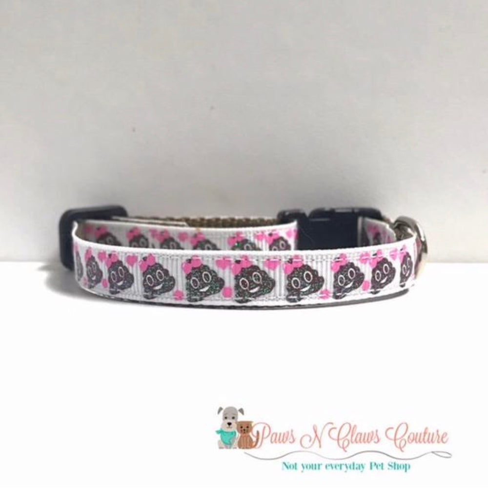 "3/8"" Little poo Cat or Small Dog Collar - Paws N Claws Couture"