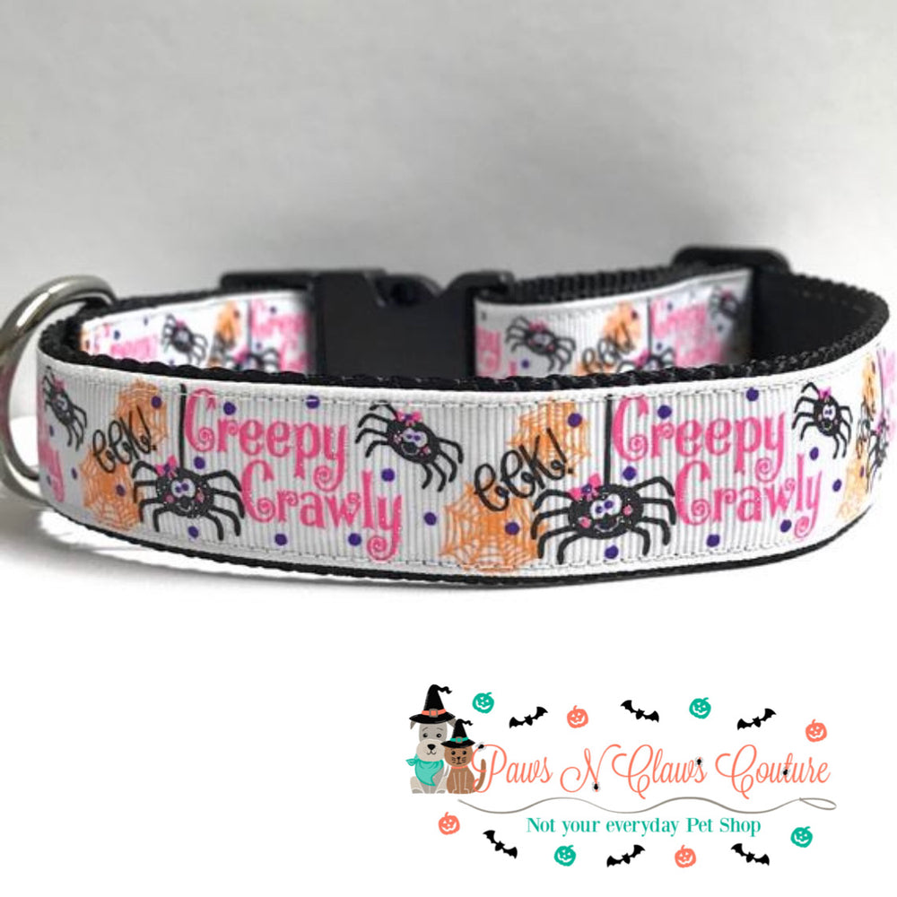 "1"" Creepy Crawly Dog Collar - Paws N Claws Couture"