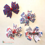Stripes, fireworks, or USA Hair Clip - Paws N Claws Couture