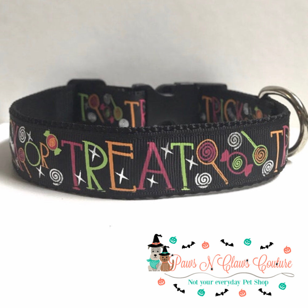 "1"" Trick or Treat Dog Collar - Paws N Claws Couture"