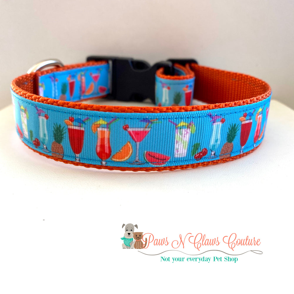 "1"" Weekend cocktails Dog Collar"