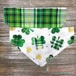 Reversible plaid and clovers Bandana
