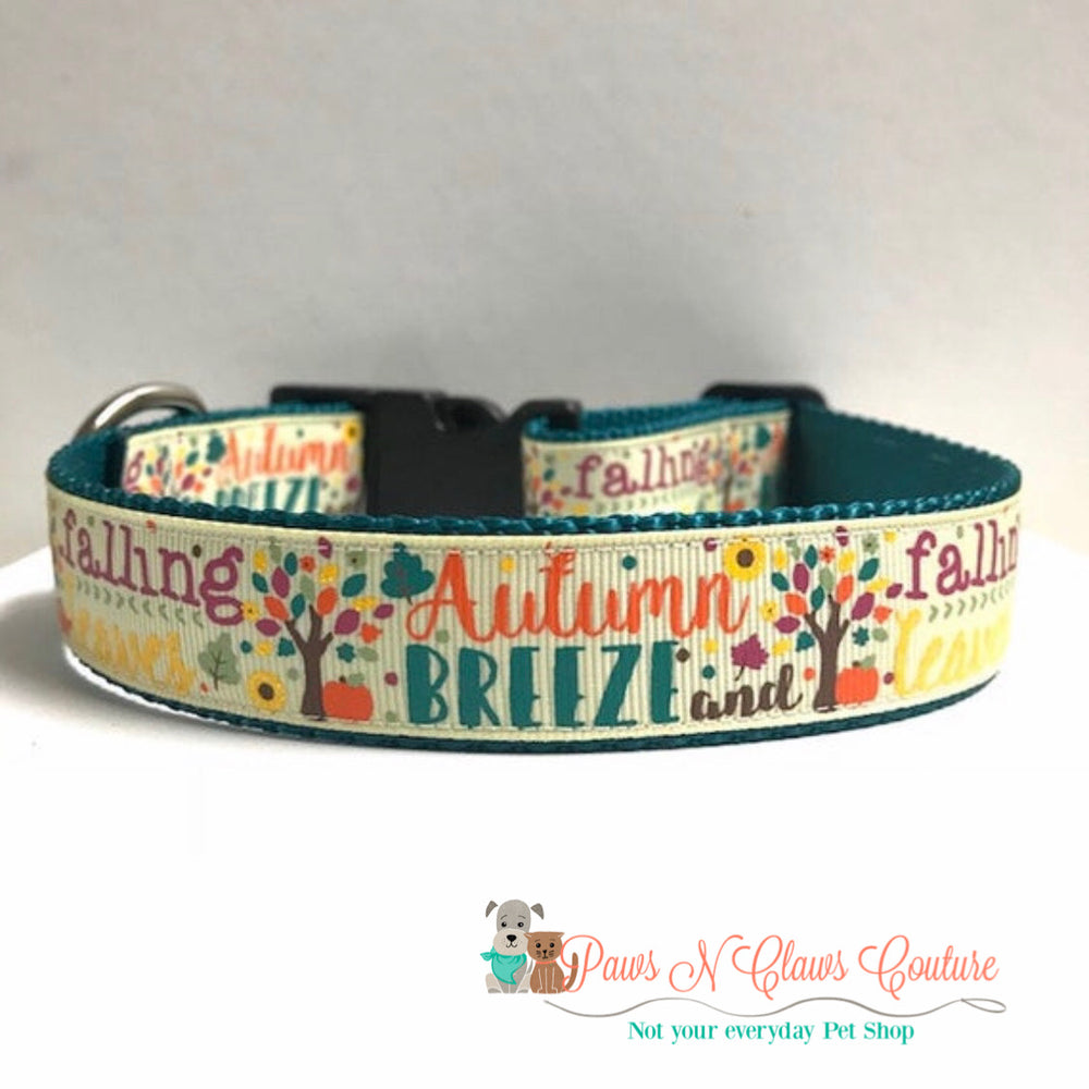 "1"" Autumn breeze Dog Collar - Paws N Claws Couture"