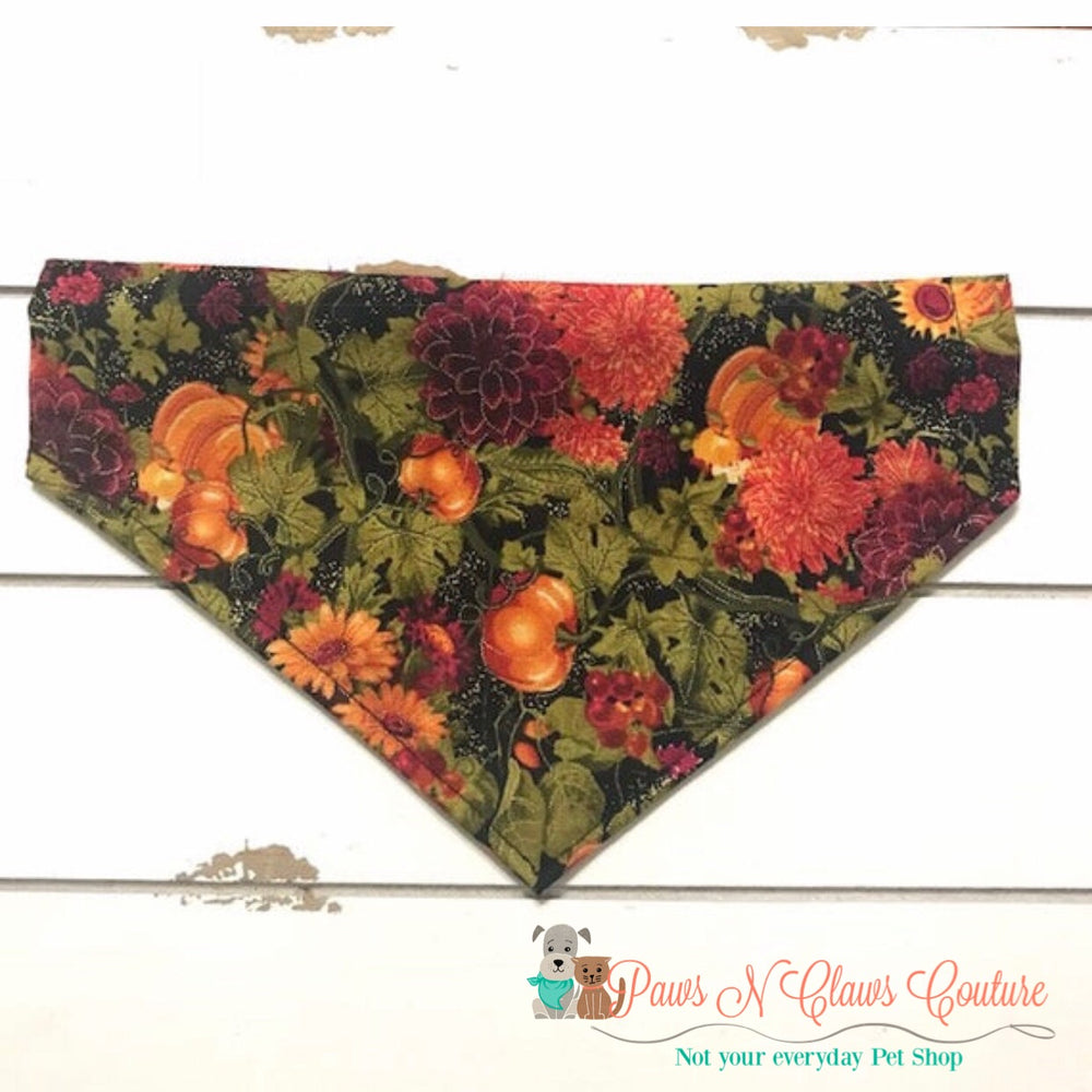 Mums and pumpkins Bandana - Paws N Claws Couture