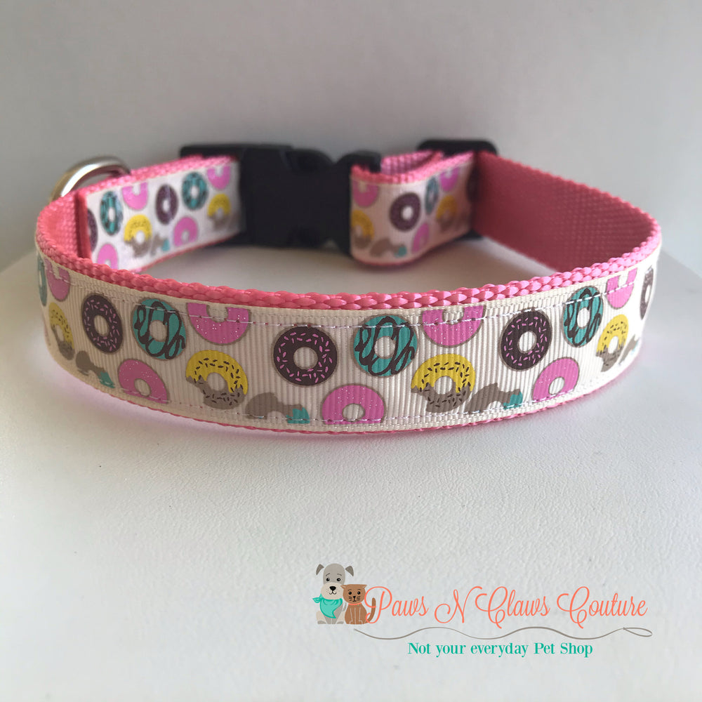 "1"" Designer donuts Dog Collar - Paws N Claws Couture"