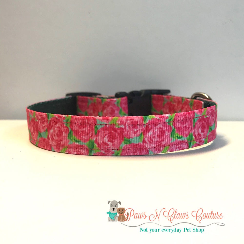 "5/8"" Lily inspired roses Dog Collar"