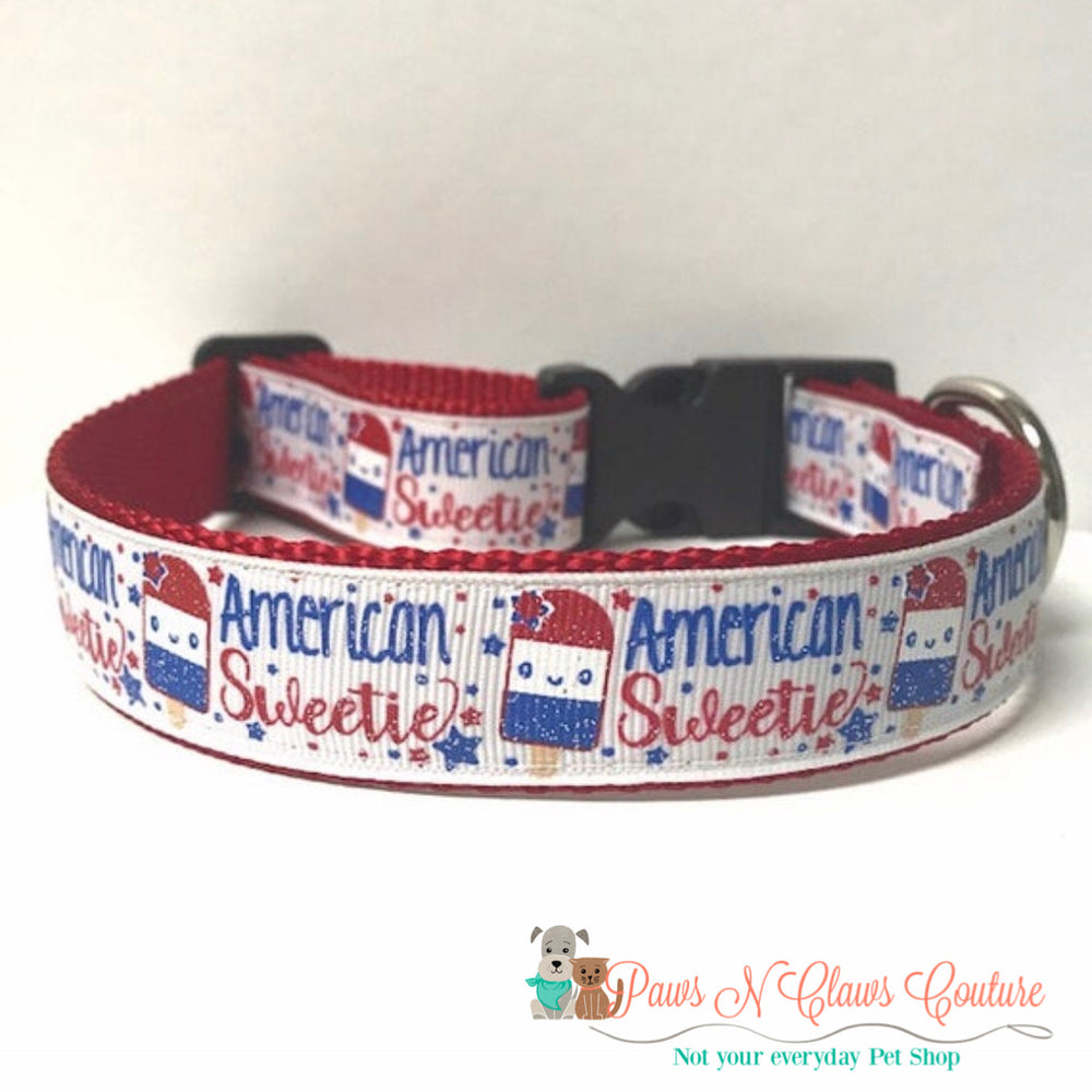 "1"" American Sweetie Dog Collar - Paws N Claws Couture"