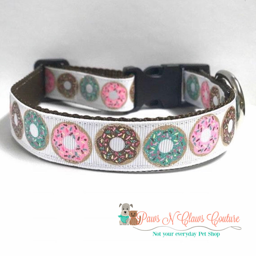 "1"" Sprinkled donuts Dog Collar - Paws N Claws Couture"