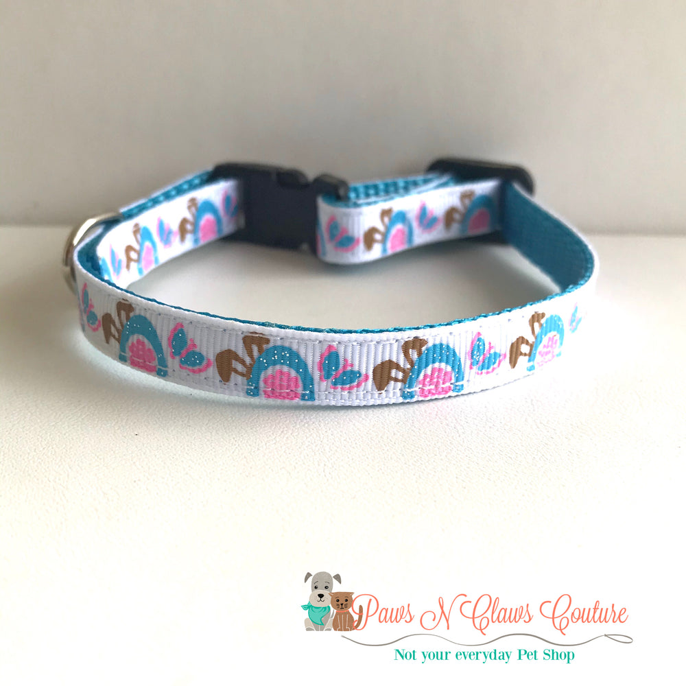 "3/8""peekaboo bunny Cat or Small Dog Collar - Paws N Claws Couture"