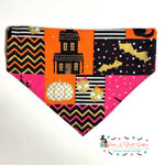 Halloween patchwork Bandana - Paws N Claws Couture