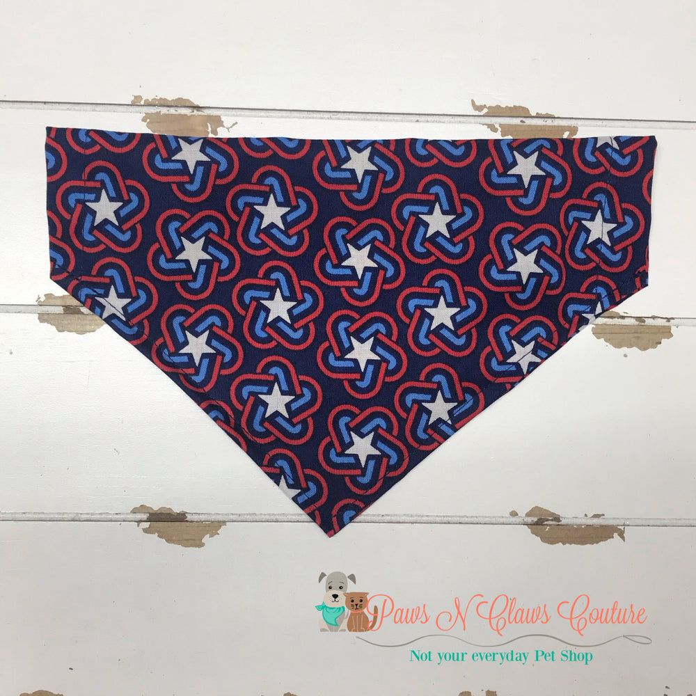 4th of July Stars Bandana - Paws N Claws Couture
