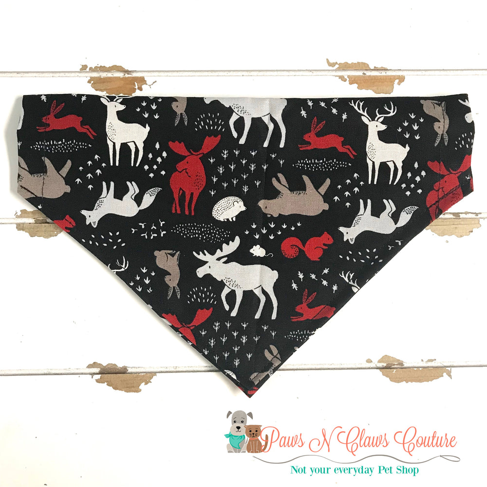 Forest animals Bandana - Paws N Claws Couture
