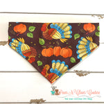 Turkeys and pumpkins Bandana - Paws N Claws Couture