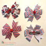 Stars, stripes or flags Hair Clip - Paws N Claws Couture
