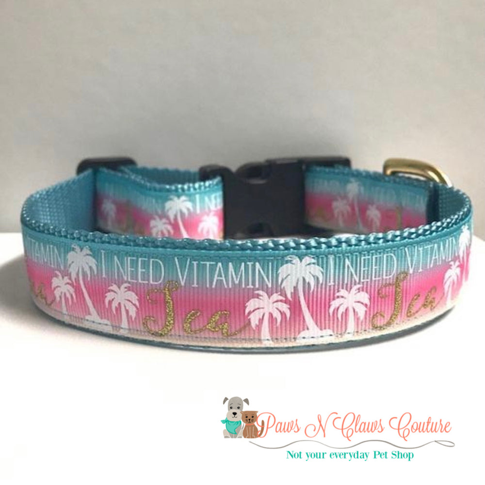 "1"" Vitamin Sea Dog Collar"