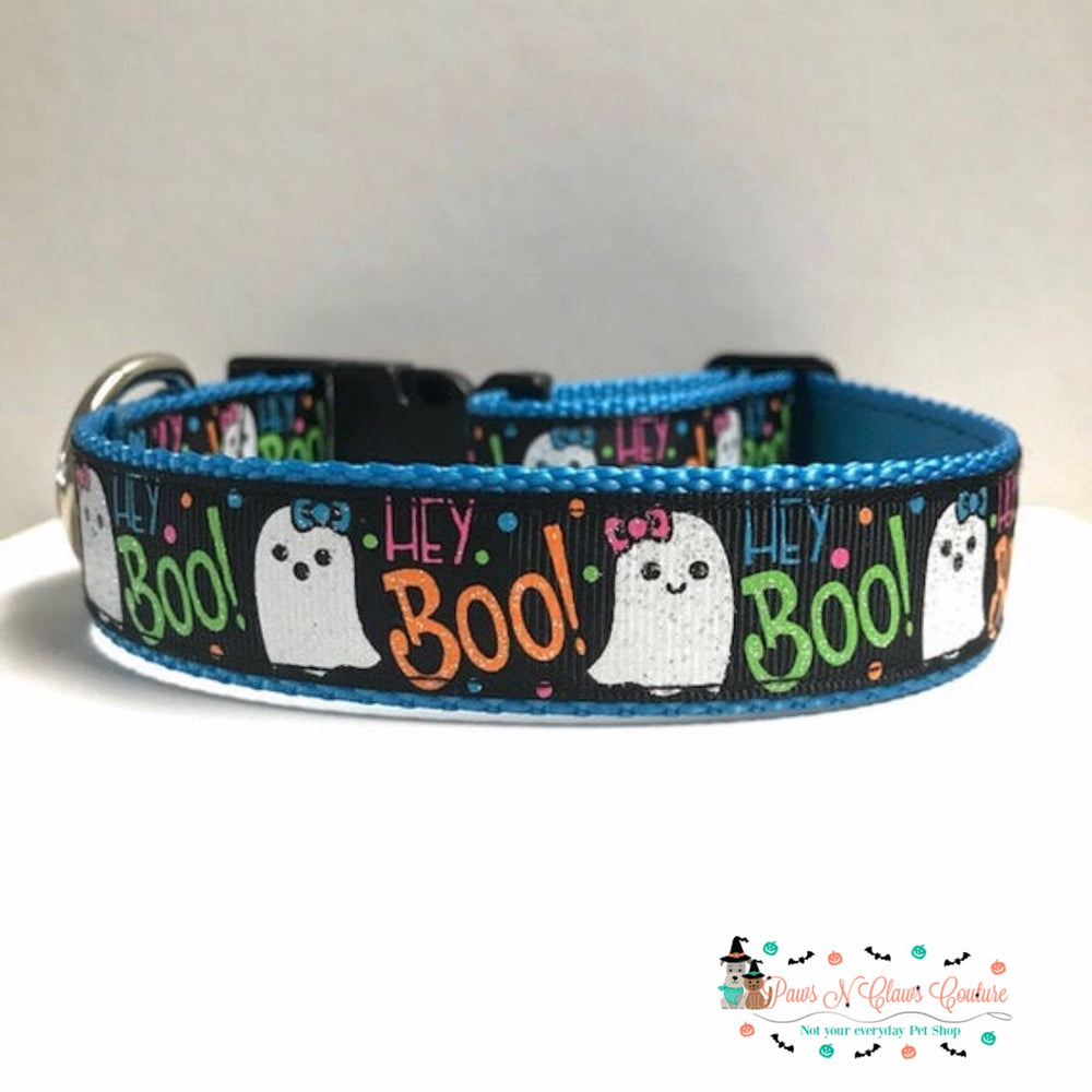 "1"" Hey boo or family is everything Dog Collar - Paws N Claws Couture"