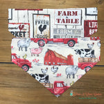 Reversible Farm to table Bandana - Paws N Claws Couture