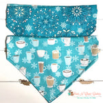 Reversible Hot chocolate and snow Bandana - Paws N Claws Couture
