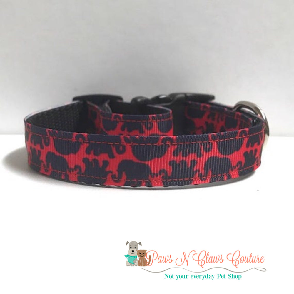 "5/8"" Lily inspired elephants Dog Collar"