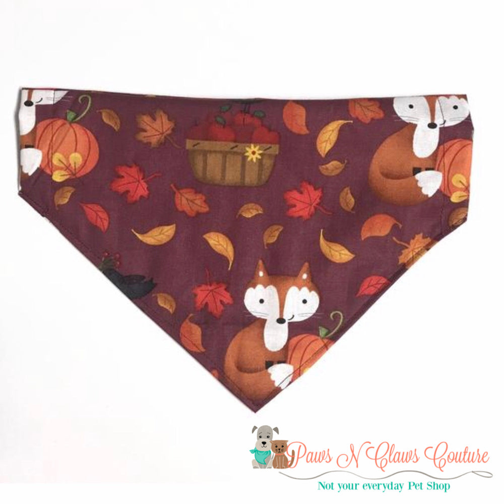Fall Fox Bandana - Paws N Claws Couture