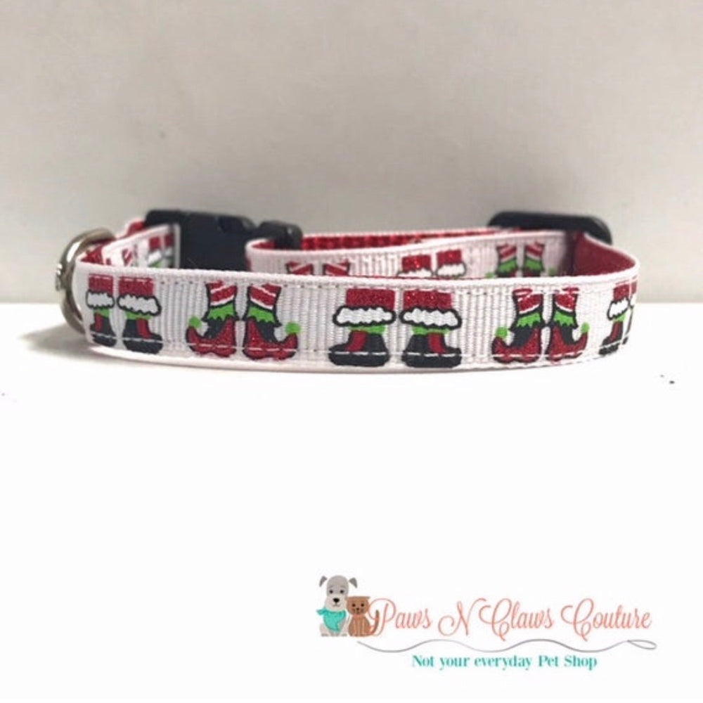 "3/8"" Elf shoes Cat or Small Dog Collar - Paws N Claws Couture"