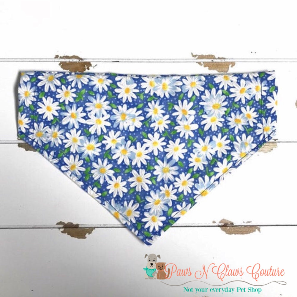 Daisy's on blue Bandana