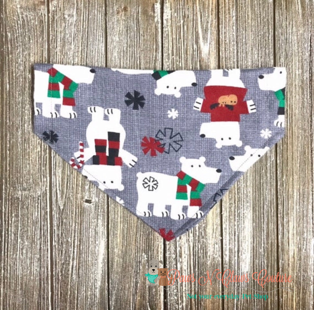 Winter bears Bandana - Paws N Claws Couture
