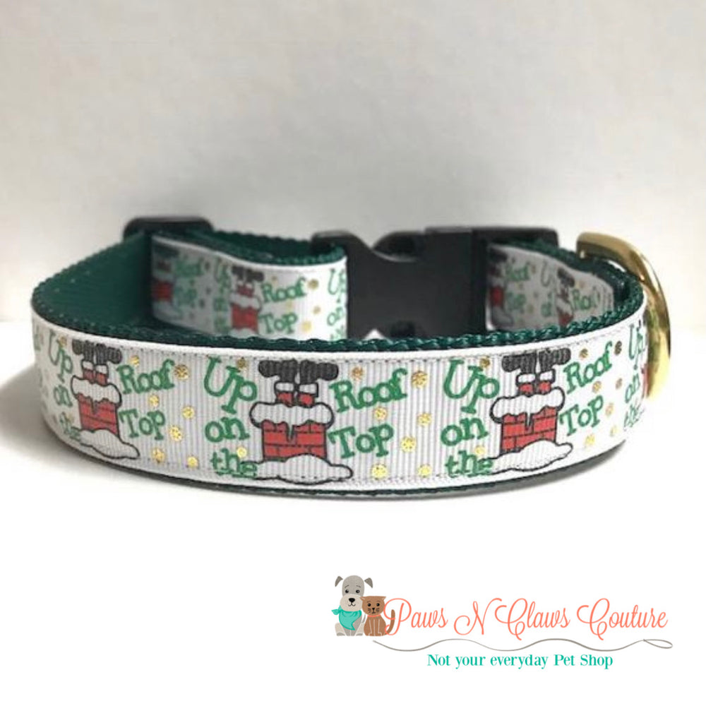 "1"" Up on the rooftop Dog Collar - Paws N Claws Couture"