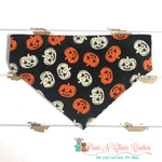 Orange and white jack o lanterns Bandana - Paws N Claws Couture