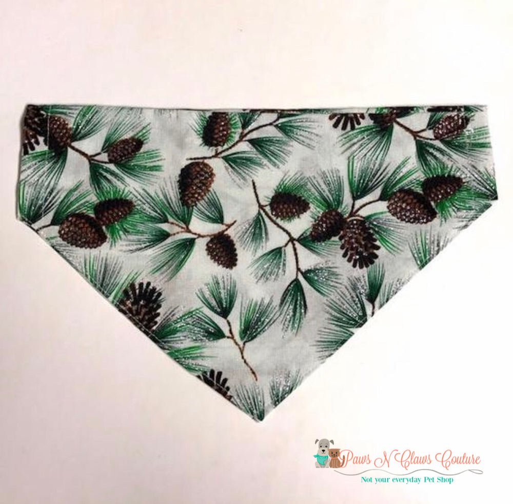Glitter pinecones Bandana - Paws N Claws Couture