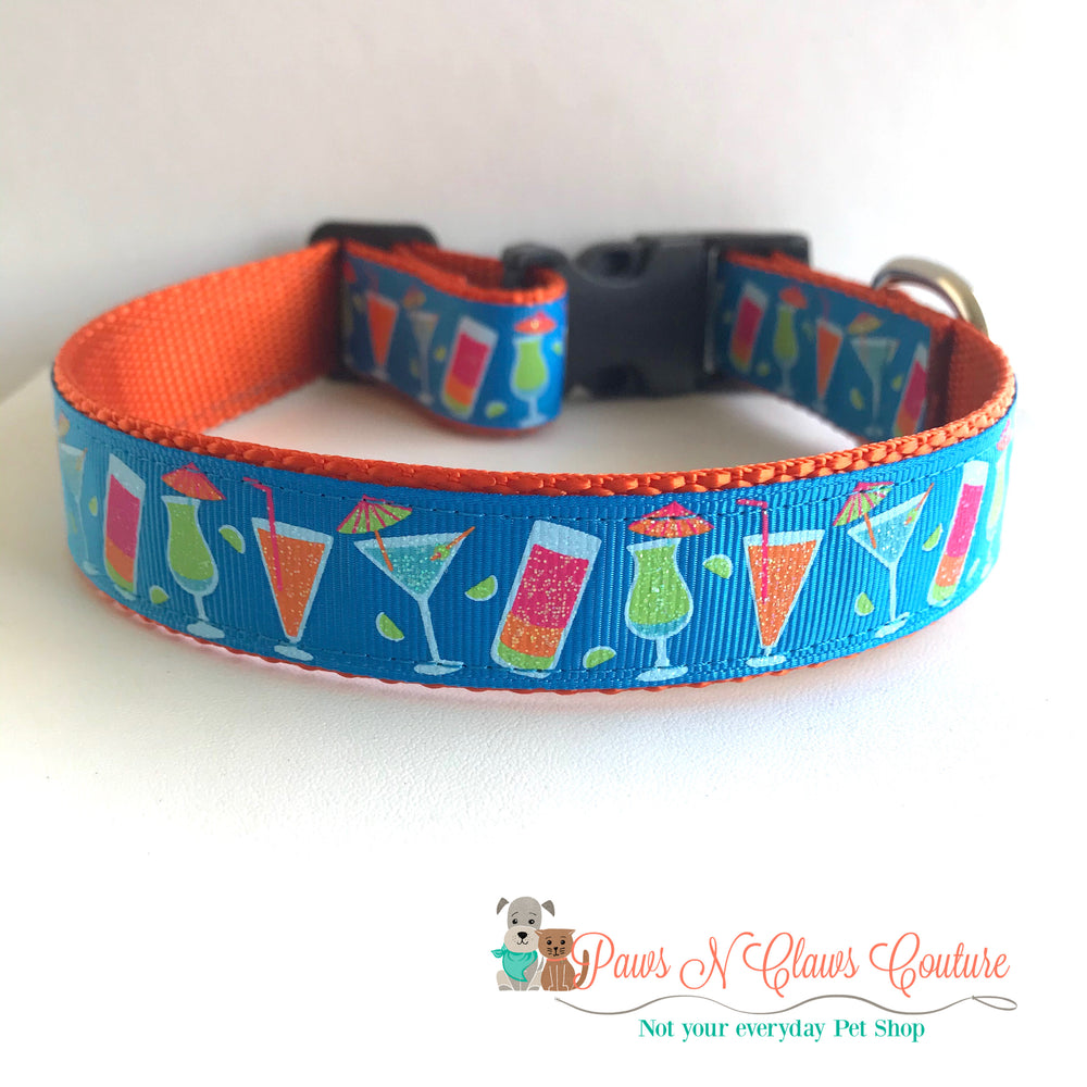 "1"" Weekend drinks Dog Collar - Paws N Claws Couture"
