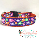 "1"" Cartoon Halloween Dog Collar - Paws N Claws Couture"