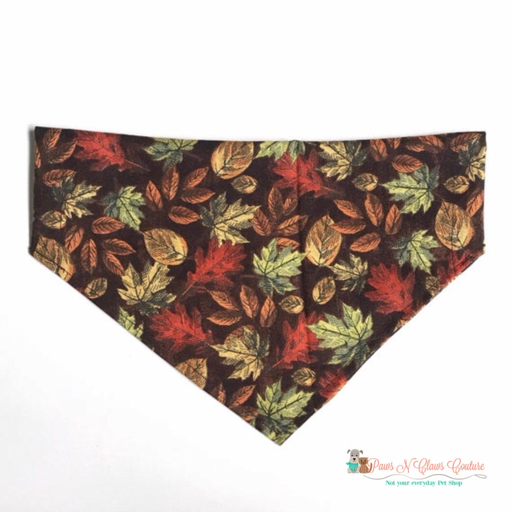 Fall leaves Bandana - Paws N Claws Couture