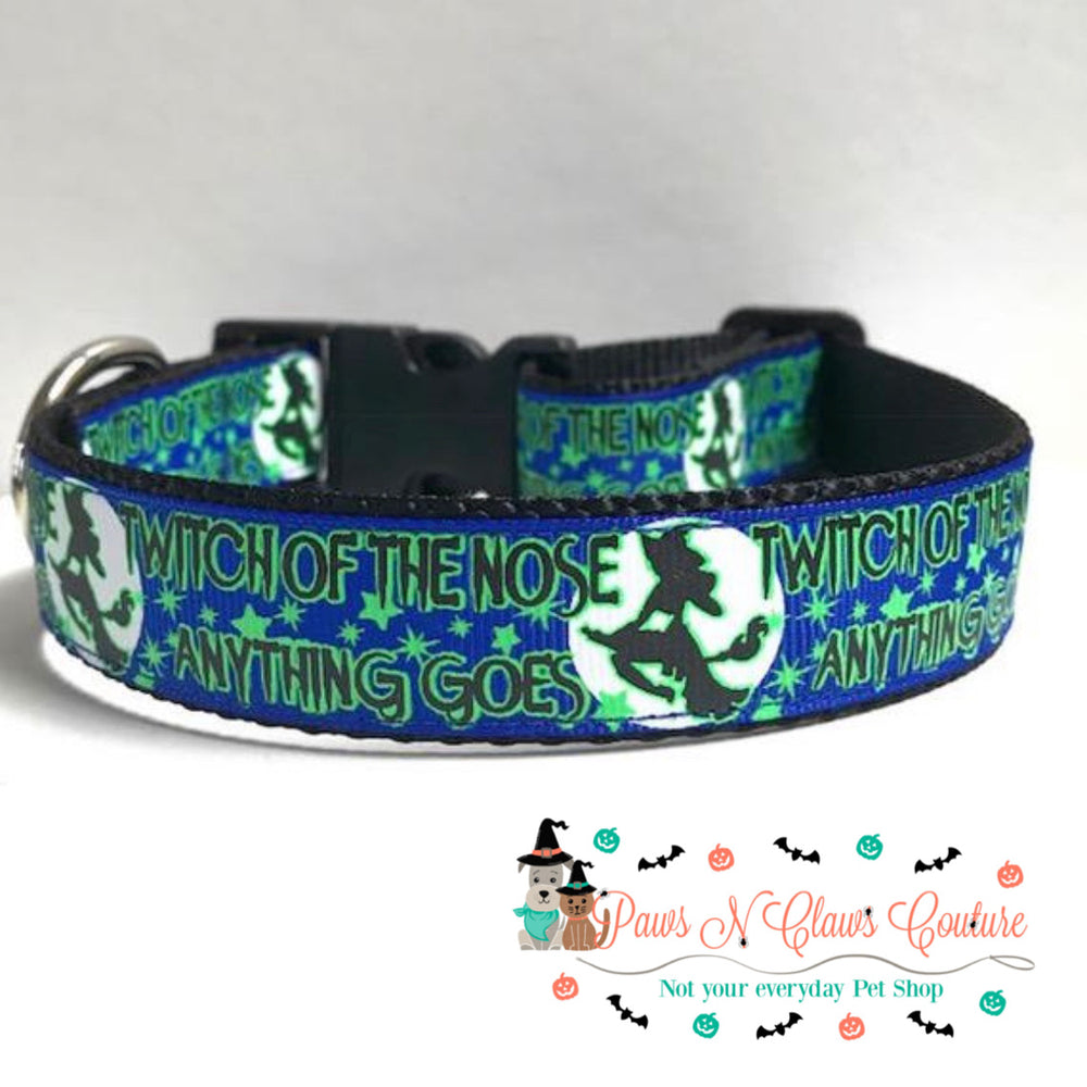 "1"" Twitch of the nose Dog Collar - Paws N Claws Couture"