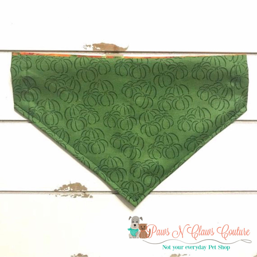 Reversible pumpkin patch Bandana - Paws N Claws Couture