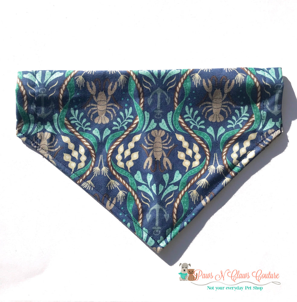 Ocean lobster Bandana - Paws N Claws Couture