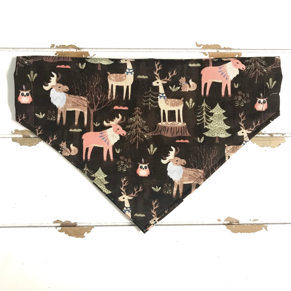 Moose and deer Bandana - Paws N Claws Couture