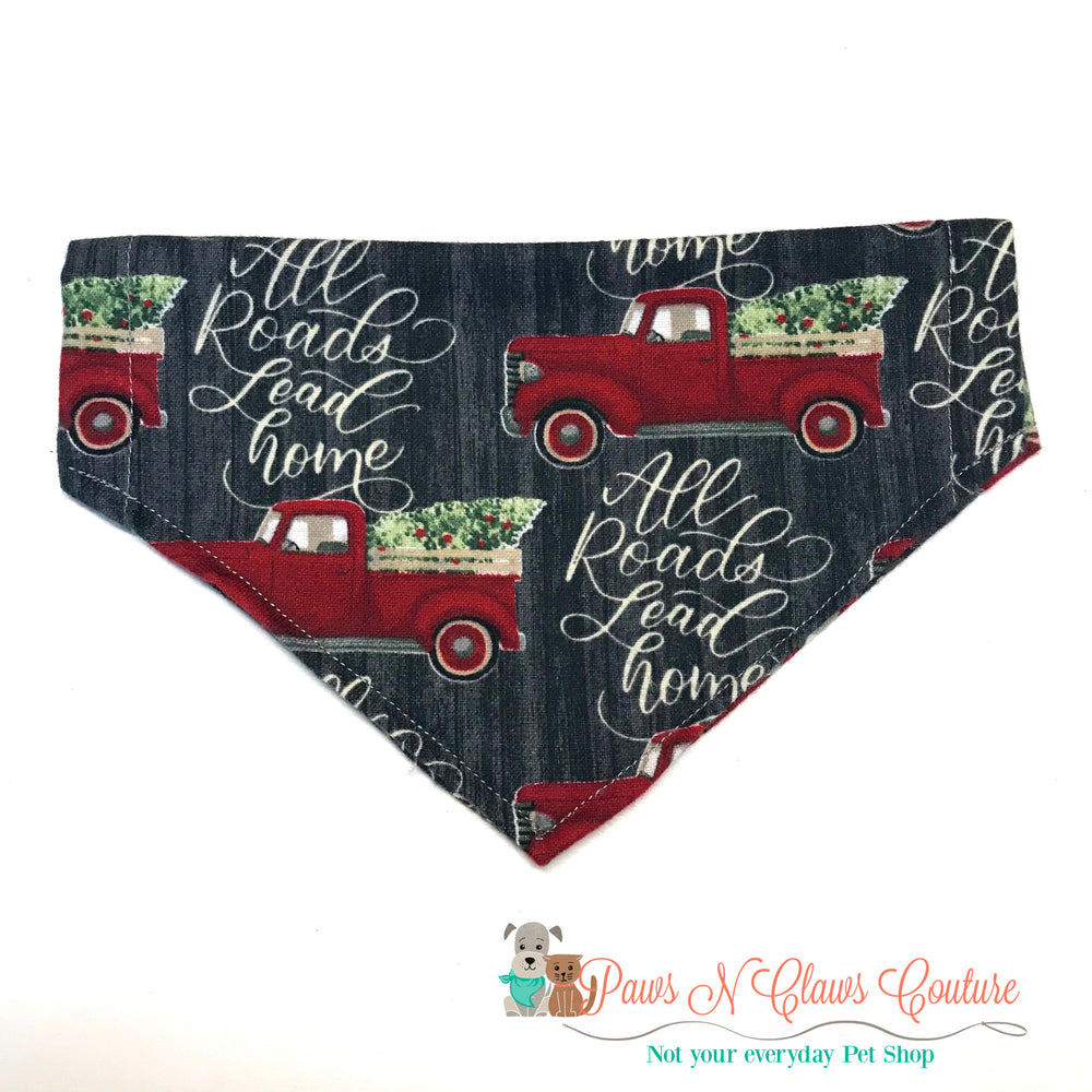 All roads lead to home Bandana - Paws N Claws Couture