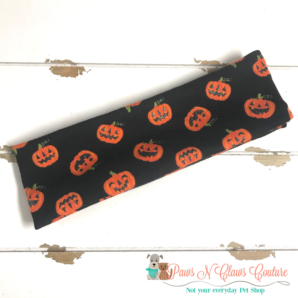 Halloween jack o lantern Headband - Paws N Claws Couture
