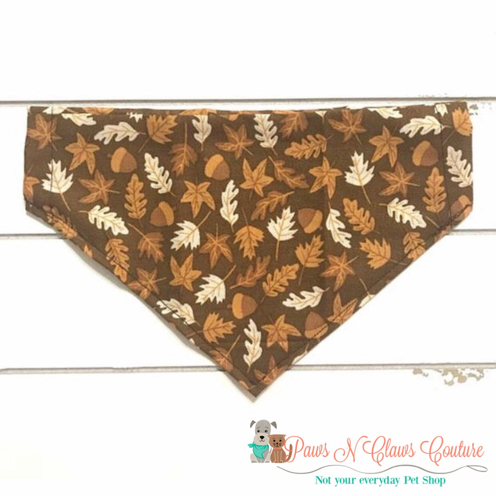 Fall acorns and leaves Bandana - Paws N Claws Couture