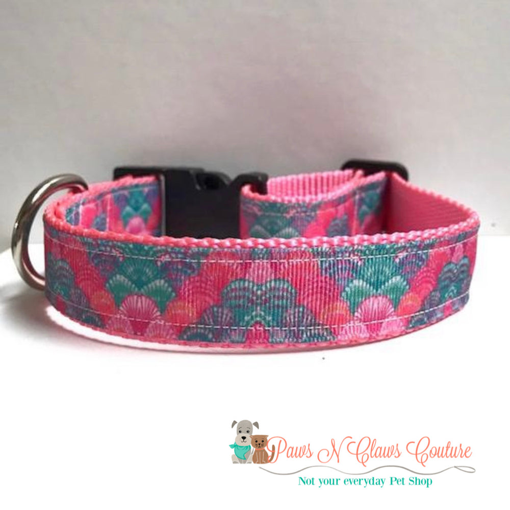 "1"" Shells, Lily inspired Dog Collar"