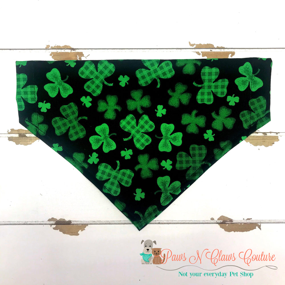 Plaid clovers Bandana - Paws N Claws Couture