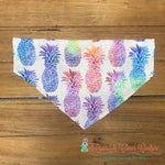 Rainbow pineapples Bandana - Paws N Claws Couture