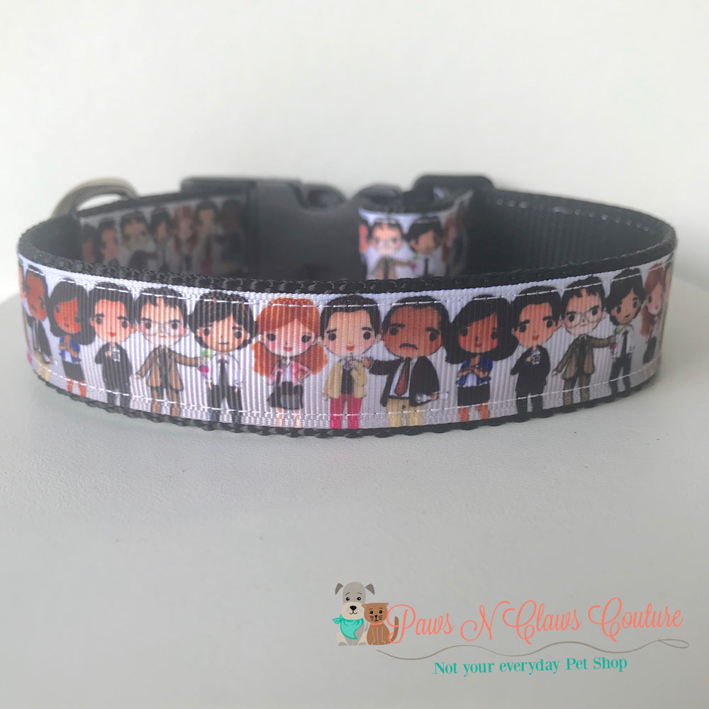 "1"" The office inspired Dog Collar"