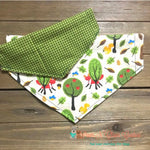 Reversible plaid and fall trees Bandana - Paws N Claws Couture