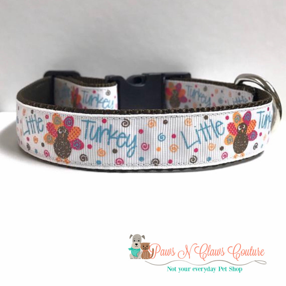 "1"" little turkey Dog Collar"
