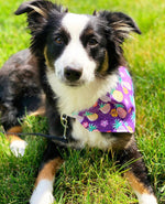 Purple and Pineapples Bandana - Paws N Claws Couture